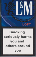 L&M Loft Night Blue Cigarettes pack
