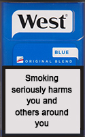 West Blue Cigarettes pack