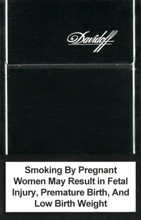 Davidoff Black NanoKings (mini) Cigarettes pack