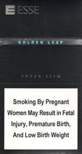 Esse Golden Leaf Super Slims 100's Cigarettes pack