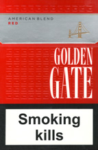 Golden Gate Red Cigarettes pack