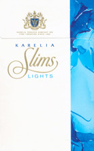 Karelia Slims Lights (Blue) 100`s Cigarettes pack