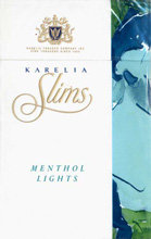 Karelia Slims Menthol Lights 100`s Cigarettes pack