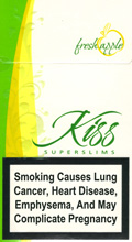 Kiss Super Slims Fresh Apple 100's Cigarettes pack