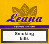 Leana Non Filter Cigarettes pack