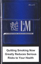 L&M Motion Blue (mini) Cigarettes pack
