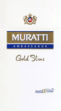 Muratti Gold Slims 100's Cigarettes pack