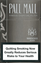 Pall Mall Nanokings Silver(mini) Cigarettes pack