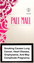 Pall Mall Super Slims Silver 100`s Cigarettes pack