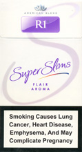 R1 Super Slims Flair Aroma 100's Cigarettes pack