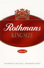 Rothmans Special Mild (Red) Cigarettes pack