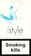 Style Super Slims One Cigarettes pack