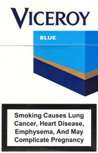Viceroy Lights (Blue) Cigarettes pack