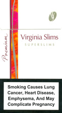 Virginia Slims Super Slims Filter 100's Cigarettes pack