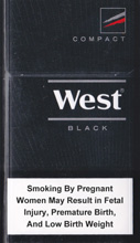 West Black Compact Cigarettes pack