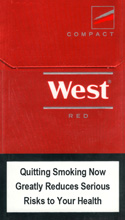 West Red Compact Cigarettes pack
