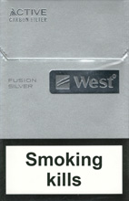 West Fusion Silver Cigarettes pack
