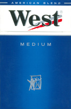 West Medium Cigarettes pack