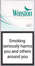Winston Super Slims Fresh Menthol 100s Cigarettes pack