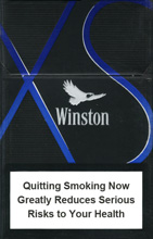Winston XS Blue NanoKings (mini) Cigarettes pack